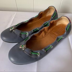 Hunter Dominica Leather Toggle Shoes Ballet Flats
